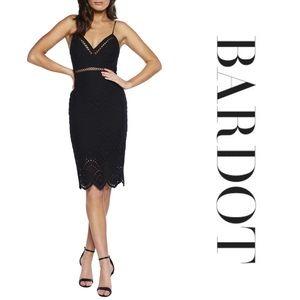 Bardot Sofia Embroidered Cotton Sheath Dress